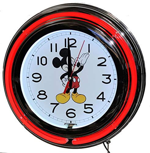 Micky Mouse Neon Clock -