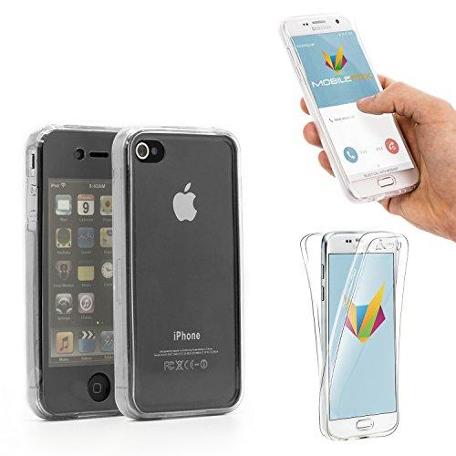 360° Full Case Silikon Hülle Display Schutz Cover Apple iPhone 4/4S Transparent