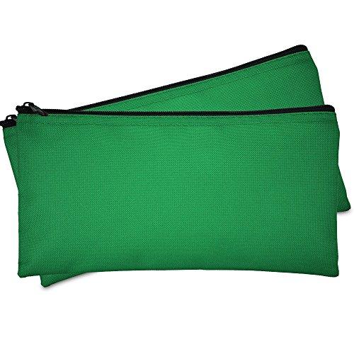 DALIX Bank Bags Money Pouch Security Deposit Utility Zipper Coin Bag Green 2 ()