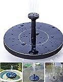 Solar Bird bath Fountain Pump, Alvivi Solar Power fountain pump 1.5W Solar Panel Water Floating Pump Kit for Pond, Pool and Garden Decoration