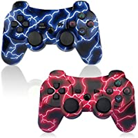 PS3 Controller 2 Pack Wireless 6-axis Double Shock Gaming...