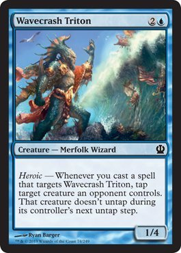 Amazon.com: Magic: the Gathering - Wavecrash Triton (74/249 ...