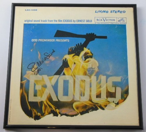 Exodus Eva Marie Saint Hand Signed Autographed Original Motion Picture Soundtrack Record Album with Vinyl Framed Loa