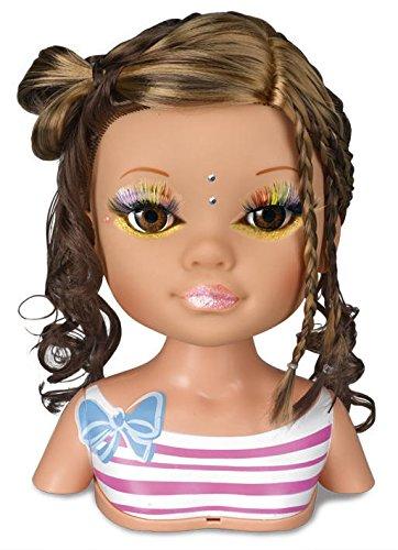 Nancy día de secretos de belleza: muñeca morena, accesorios de maquillaje y peluquería (