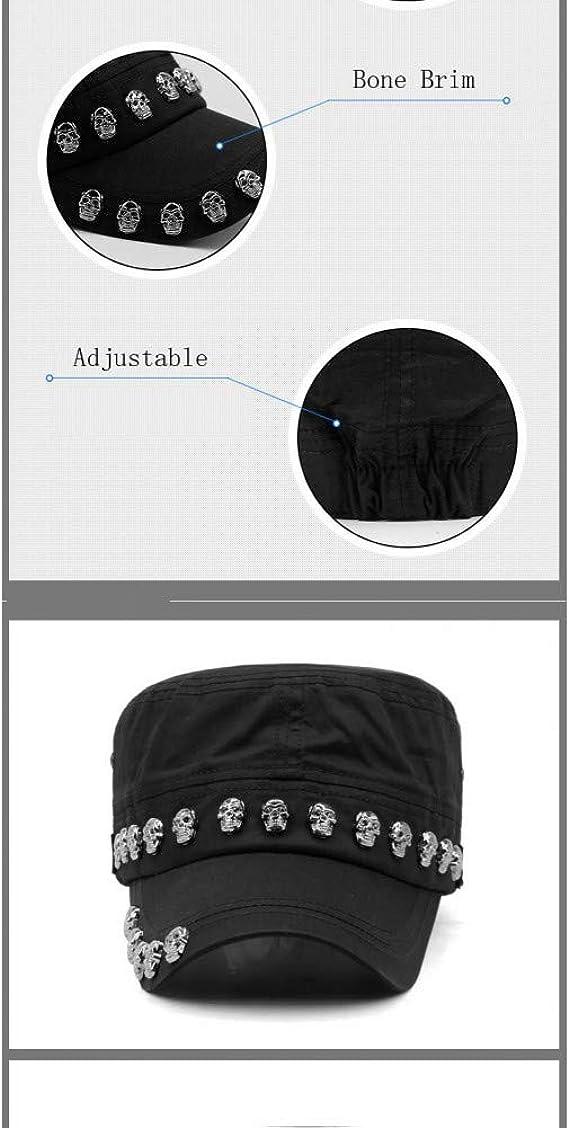 FHHYY Military cap Skull Men Sport Hat Hip Hop Cool Cap Fashion Casual Sun Hat Bone Brim Skull Street Army Hats Breathable Thin Cotton