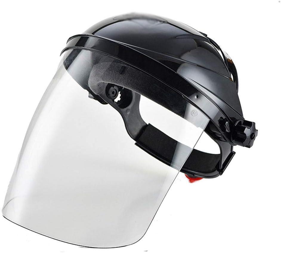 MáScara Antichoque Protector Facial Transparente A Prueba De Salpicaduras Montado En La Cabeza con Casco Universal