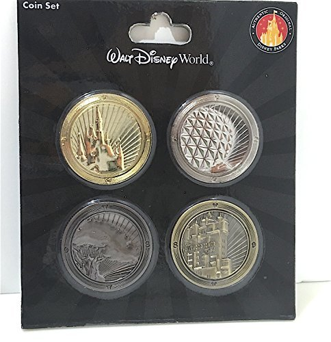 Walt Disney World Souvenir Coin Set of 4 Parks NEW EDITION Tower of Terror