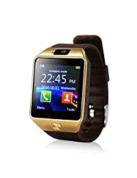 Yuntab SW01 Bluetooth Smart Sport Watch Fitness Watch for iPhone Samsung HTC LG Android Smartphone, Brown
