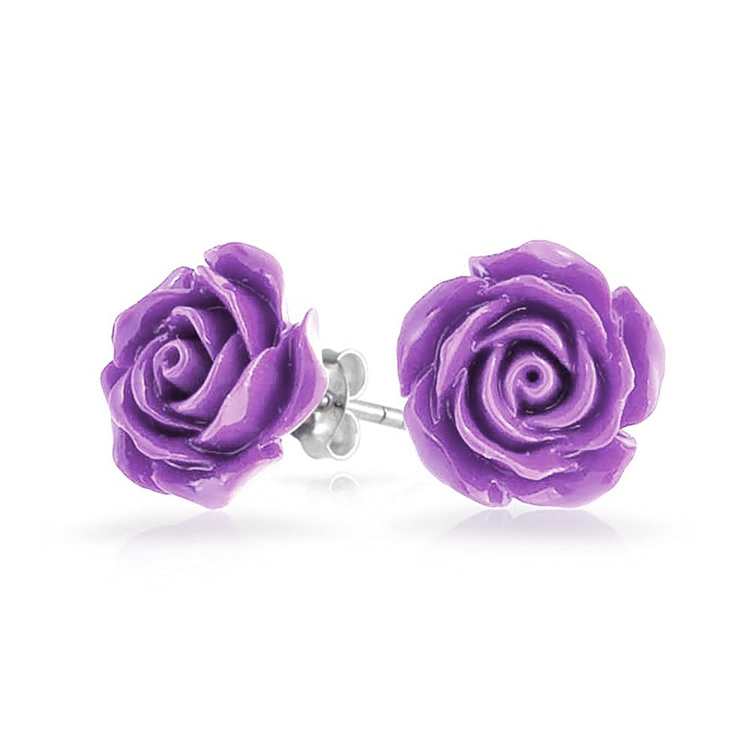 purple l earrings sequin versona flower