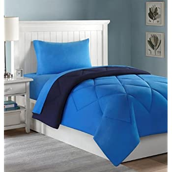 college dorm and sheets 4 pc set twin xl navylight blue