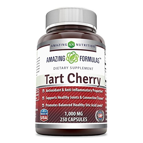 Amazing Formulas Tart Cherry Extract - 1000 Mg, Capsules - Antioxidant Support - Promotes Joint Health & a Proper Uric Acid Level Balance (250 Count)
