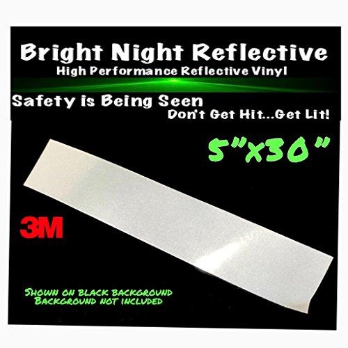 White reflective vinyl decal sticker kit 5