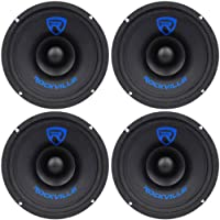 (4) Rockville RM68SP 6.5 8-Ohm 480 Watt Peak / 240 Watt RMS CEA-2031 Compliant Midrange Car Speakers With Wire MeshGrilles