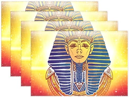 baihuishop Manteles individuales para mesa de comedor, diseño de faraón antiguo egipcio esotérico, 30,5 x 45,7 cm, juego de 1: Amazon.es: Hogar