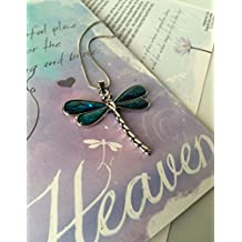 Smiling Wisdom - Heaven Dragonfly Story Greeting Card Gift Set - Abalone Dragonfly Necklace - Loss, Bereavement or Simple Explanation of Heaven and Earth for Adult or Explain to Child