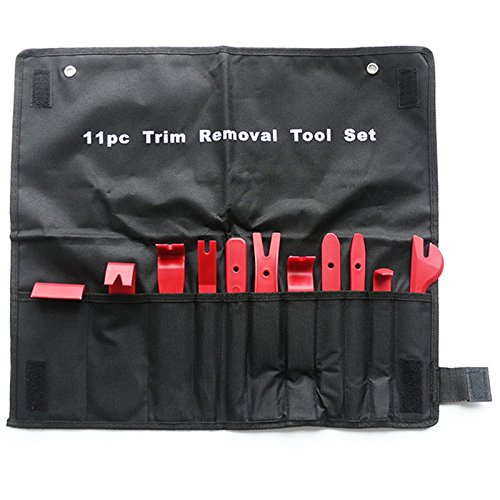 Mayitr 11Pcs/set Car Plastic Trim Removal Tool Audio Door Panel Open Molding Set Kit Pouch Pry Tool Auto Interior Hand Tools New by LOCHI