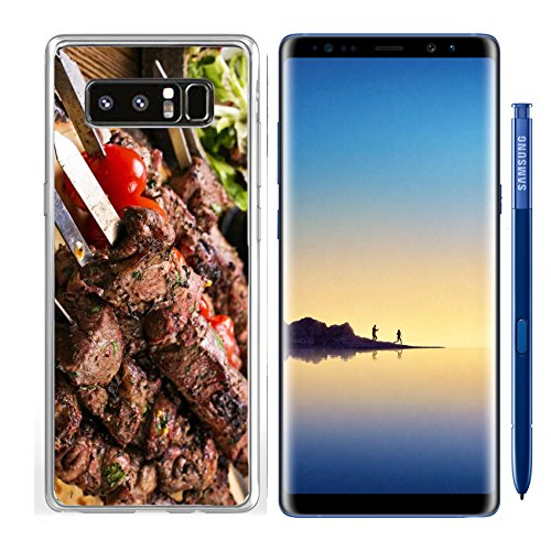 Luxlady Samsung Galaxy Note8 Clear case Soft TPU Rubber Silicone IMAGE ID: 25976275 lamb kebab - Lamb Kabobs