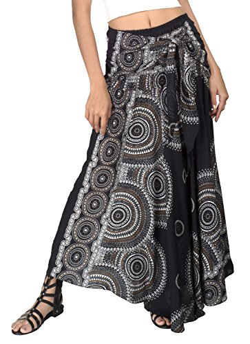 Joop Joop 2 in 1 Maxi Skirt and Dress Bohemian Loose Flowing Boho Summer Travel Beach Festival Lounge Casual Skirt