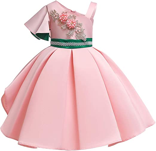 Kids Toddler Baby Girl Princess Flowers Gown Pageant Party Floral Dress Headband