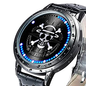 Wildforlife Anime One Piece Straw Hat Pirates Luffy Collector's Edition Touch LED Watch by Wild for Life