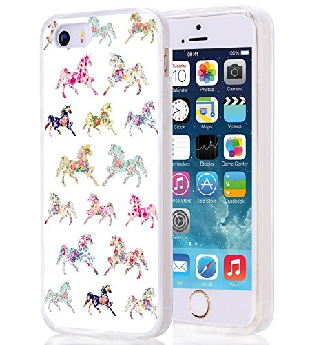 5C Case - CCLOT Flexible Cover Protector Compatible Replacement for iPhone 5C Handsome Animal Unique Designer Slim Pattern Thin Protective Shockproof Drop Proof (TPU Protective Silicone Bumper Skin)