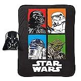 Jay Franco Star Wars Darth Vader Plush Nogginz Pillow and 62' x 90' Blanket - 2-Piece Set