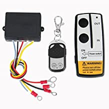 RAXFLY Universal Wireless Winch Remote Control Kit [50m Remote Distance] for 12V Car Vehicle Truck Jeep ATV SUV