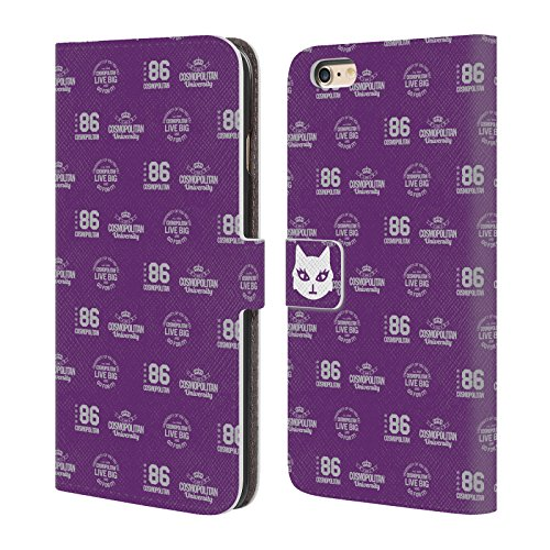 Official Cosmopolitan Pattern 3 University Leather Book Wallet Case Cover For Apple iPhone 6 Plus / 6s Plus