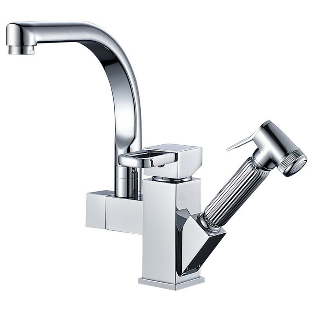 Taps Pull Type redate Kitchen Sink Wash Basin Cold Water Hot Water Telescopic Copper Faucet