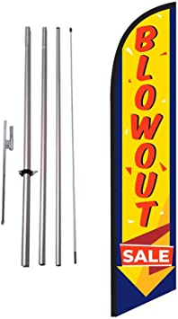 Eyebrow Threading Advertising Feather Banner Swooper Flag Sign with Flag Pole Kit and Ground Stake