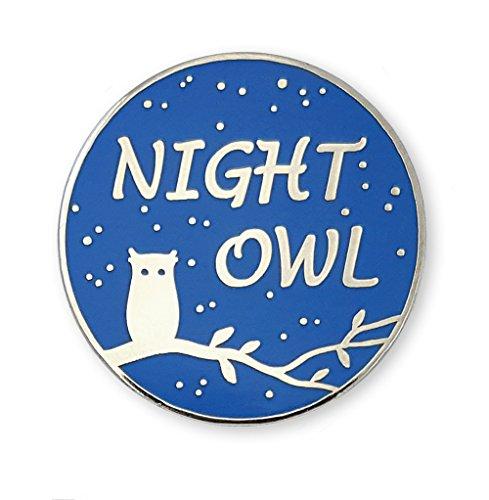 Pinsanity Night Owl Enamel Lapel Pin