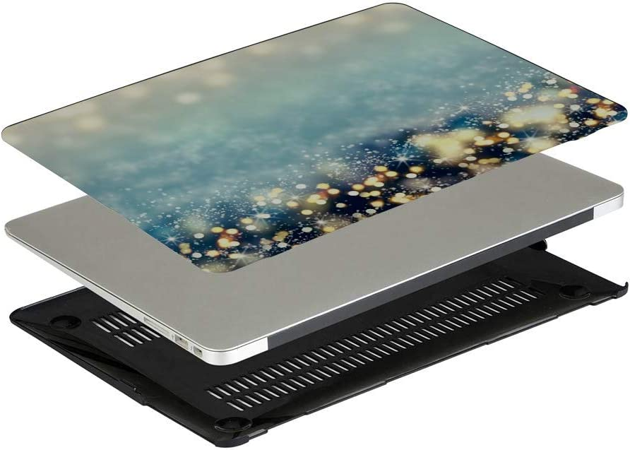 MacBook Pro Case Abstract Christmas Lights On Background MacBook Air 11 //A1370//A1465 Plastic Case Keyboard Cover /& Screen Protector /& Keyboard Clean