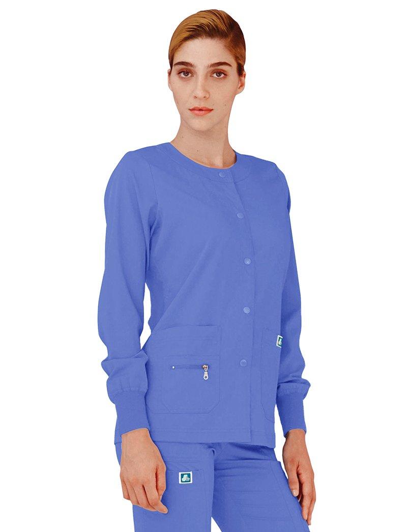 Adar Indulgence Womens Jr Fit Multi Pocket Warm-Up Scrub Jacket - 4216 - Royal Blue - L ADAR UNIFORMS 4216RYLL