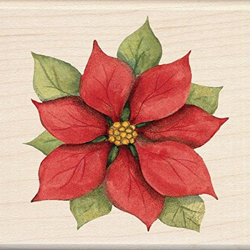 Inkadinkado Wood Stamp, Poinsettia EKS 60-00853