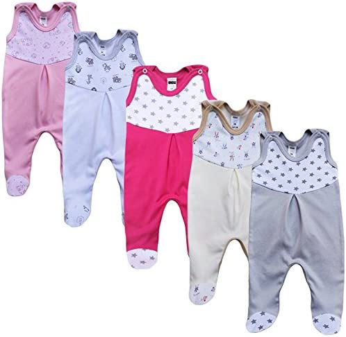 Baby Body mit Print Baby Body f/ür Jungen MEA BABY Unisex Baby Kurzarm-Body mit Aufdruck aus 100/% Baumwolle im 5er Pack Baby Body f/ür M/ädchen