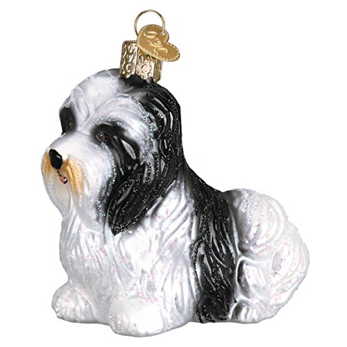 Old World Christmas Glass Blown Ornament with S-Hook and Gift Box, Dog Collection (Havanese)
