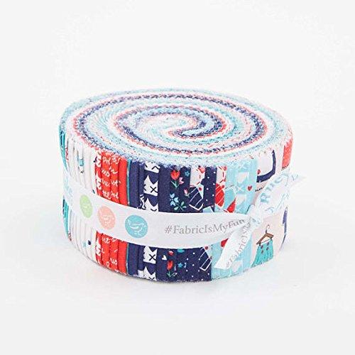 Sweetness Rolie Polie 40 2.5-inch Strips Jelly Roll Riley Blake RP-6510-40 (Pleats Polka Dots Skirt)