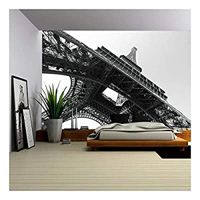 Eiffel Tower Paris France Black and White Image...
