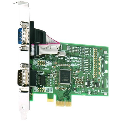 Brainboxes PX-257 2-Port PCI Express Serial Adapter - Y59087 by Brainboxes