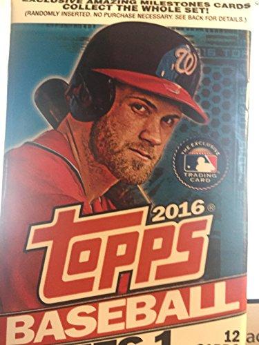 Topps baseball cards Single Pack 2016 12 cards