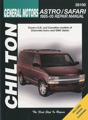 general motors astro safari 1985 2005 repair manual chilton s total rh amazon com 2005 GMC Safari Passengers 2005 GMC Safari Engine View
