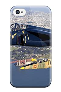 Unique Design Iphone 4/4s Durable Tpu Case Cover Aircraft