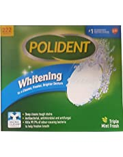 Polident Whitening Denture Cleanser Pack of 222 Tablets, 222 Count
