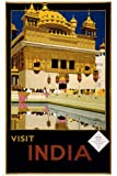 INDIA TRAVEL VINTAGE advertising POSTER 1935 Visit India RARE HOT NEW 24x36