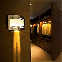 Ranphykx LED Aluminum Wall Lights Wireless Stick Anywhere Battery Powered Motion Sensor Lights Wall Sconce Spot Light Bathroom Light Hallway Night Light Indoor Led Lights