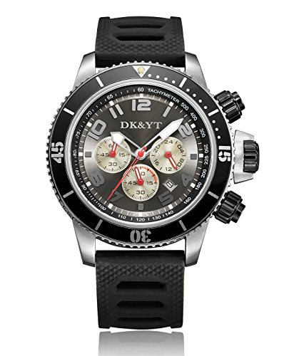 (Men's Watches for Sport,Analog Anti Reverse One-Way Rotating Bezel Wrist Watch)
