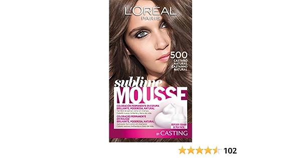 LOréal Paris Sublime Mousse Tinte en Espuma Coloración Castaño Natural - 500 ml