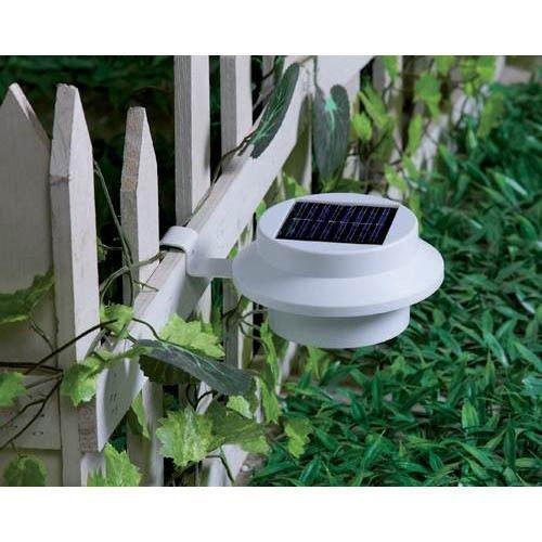 SOLAR POWERED LED GUTTER WALL FENCE LIGHTS OUTDOOR ROOF GARDEN GUTTER LIGHTS TOP