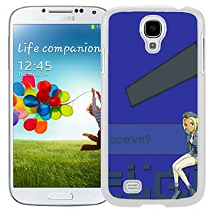 Popular And Unique Designed Cover Case For Samsung Galaxy S4 I9500 i337 M919 i545 r970 l720 With Flcl Kitsurubami Girl Blonde Sitting white Phone Case