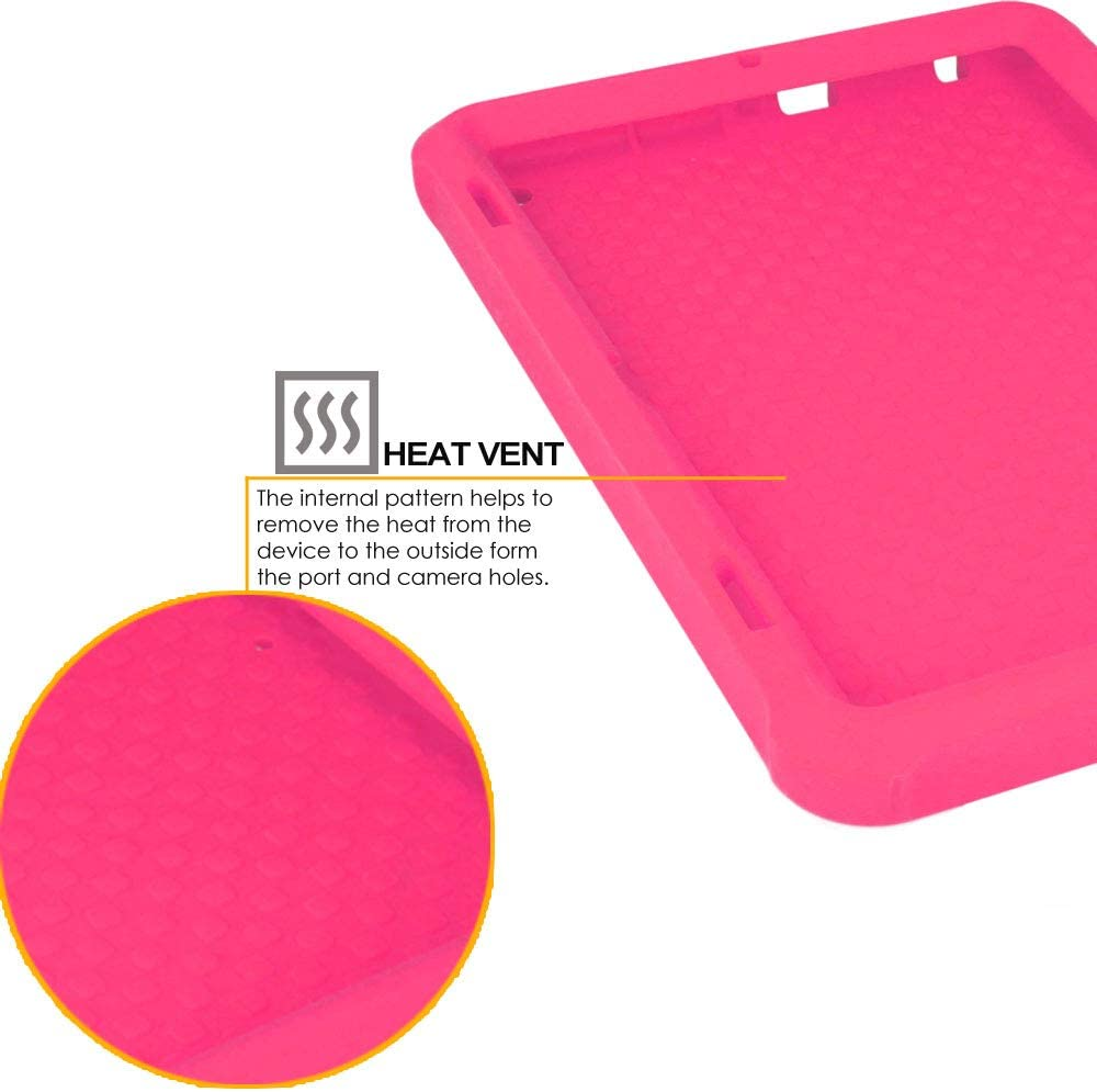 TECHGEAR Bumper Case fits All New  Fire HD 8 // HD 8 Plus 10th Generation // 2020 - Kids /& School Friendly Case PINK Rugged Shockproof Soft Silicone Easy Grip Case with Screen Protector